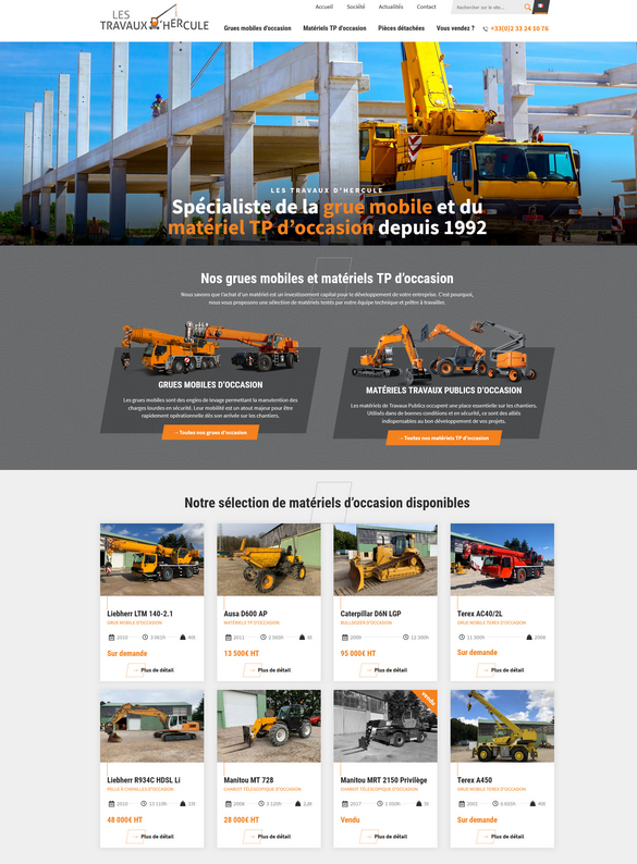 Exemple d'un site web récent, beau et responsive