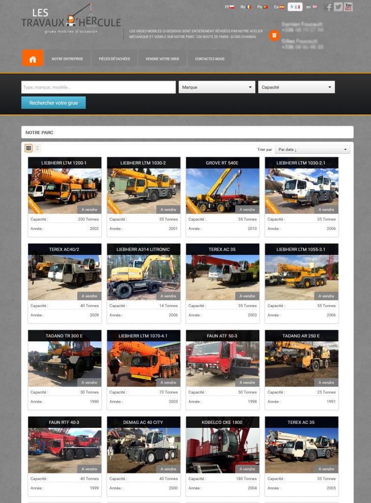 Exemple de la page d'accueil d'un ancien site web avec sa refonte
